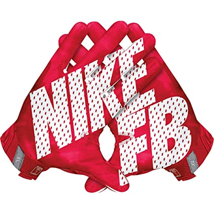 huge selection of 8c37d 090ac Image Unavailable. Image not available for. Color  Men s Nike Vapor Jet 3.0  Football Gloves University Red Gym Red Black White