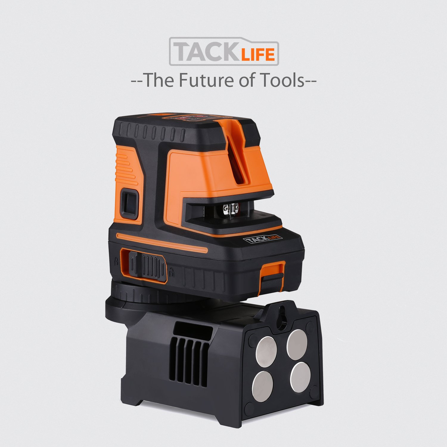 Enhanced Strong Magnetic Base Tacklife SC-L06 3-Point Alignment Laser Level Self Leveling with Horizontal//Vertical Line and Cross-Line Batteries Included Soft Carrying Pouch