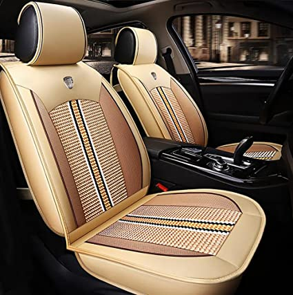 SUV Fit Most Car Airbag /& Split Ready Sojoy IsoTowel Breathable Luxury Fabric Leatherette Full Set Car Seat Covers, Or Van Truck Solid Black Color