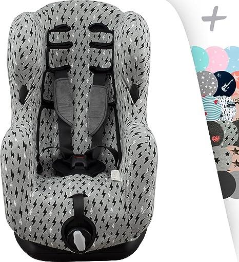 JANABEBE Funda para Bébé Confort Iseos Neo y Auto Kite con refuerzo central (Black Rayo