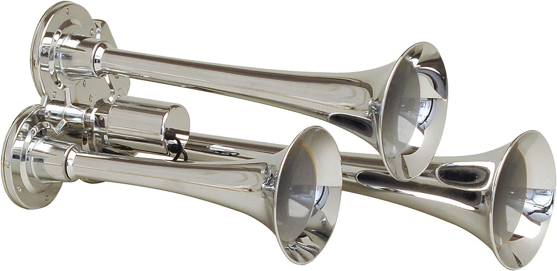 Chrome-Plated Zinc Alloy Kleinn Air Horns 130 Mini Triple Train Horn