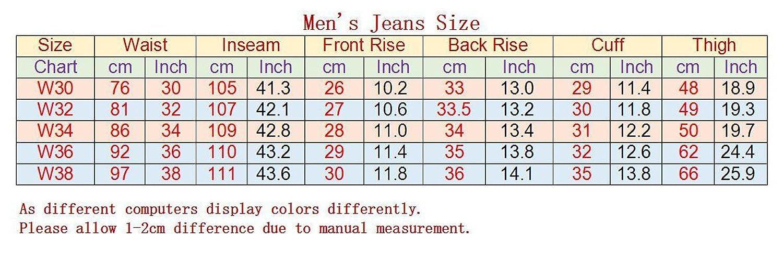 Jeansian Mens Leisure Slim Fit Skinny Jeans Denim Trousers Pants Mjd001