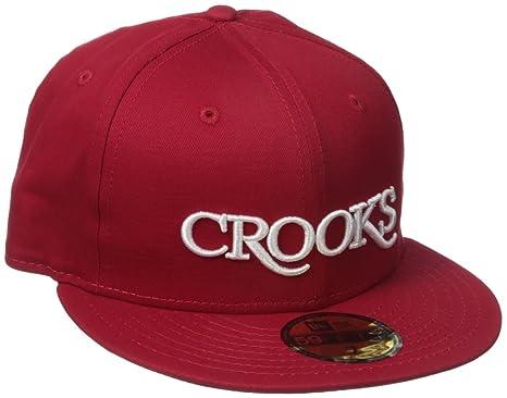 526c6eb45158e Amazon.com  Crooks   Castles Men s Serif Fitted Cap