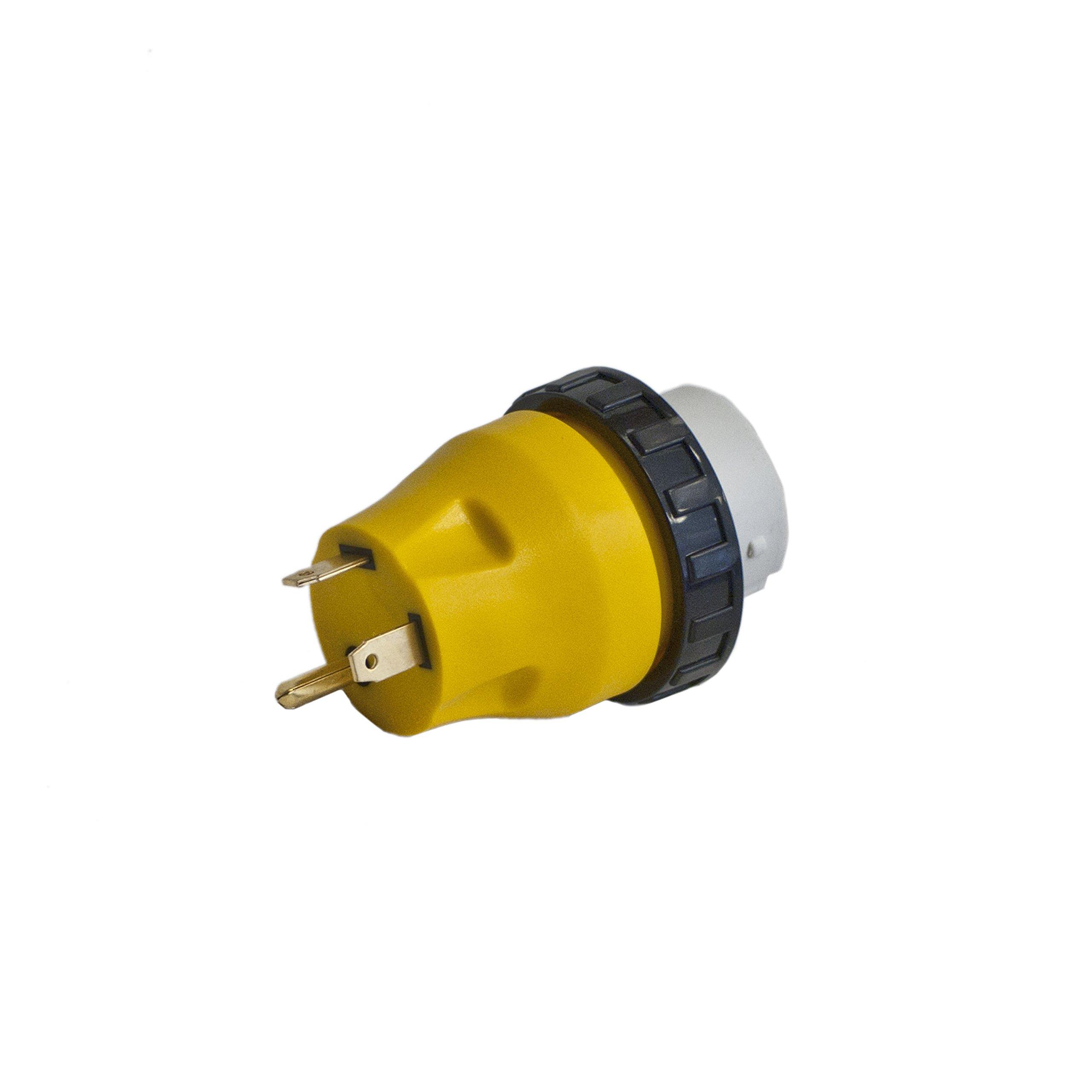 ALEKO L30-50 RV Electrical Locking Adapter 30A Male To 50A Female Locking Plug Connector