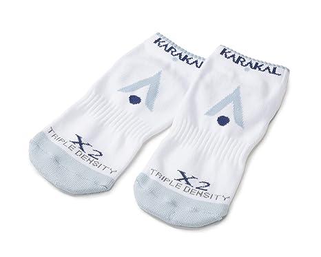 Karakal X2 técnica Zapatillas Calcetines, White/Grey - 3-6, Size 3 ...