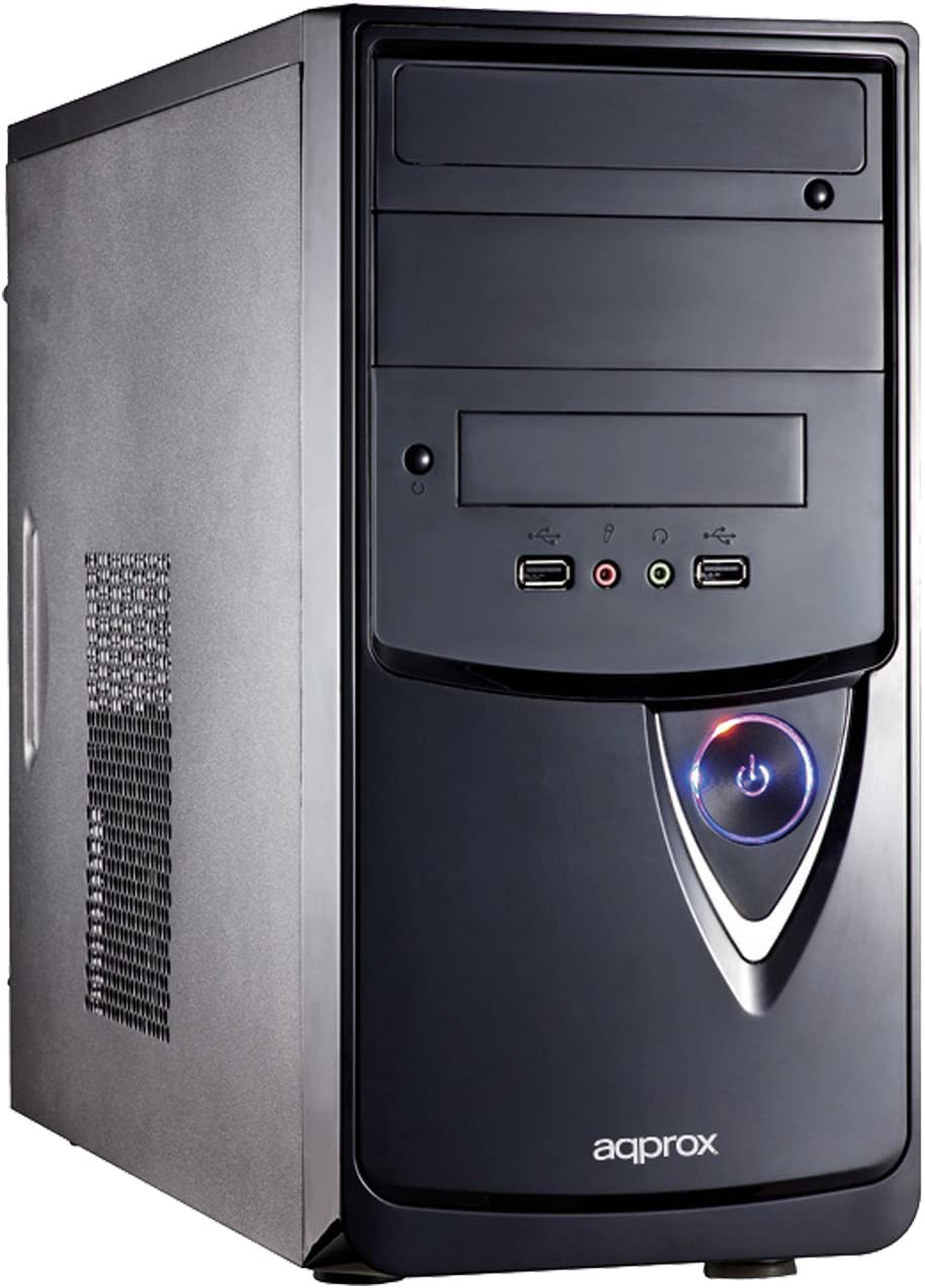 Approx Bell Carcasa de Ordenador Tower Black - Caja de Ordenador (Tower, PC, SPCC, Micro-ATX, Black, 0.5 mm): Amazon.es: Informática
