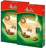 メリタ コーヒーフィルター オリジナル ブラウン PA1×4 4~8杯用 FSCミックス PO-148B 80枚×2個セット