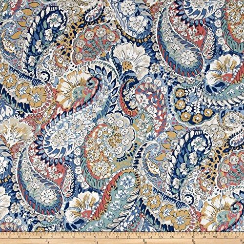 Robert Allen @ @ Home Zen Paisley Fabric, Porcelain