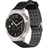 Greatfine Ricambio Cinturino dell'orologio Strap Dimensioni 18mm Accessories Bracciale per Huawei Watch Classic W1,Nokia Health Watch, Huawei Fit, Withings Activite And other 18MM(BlackGrey)