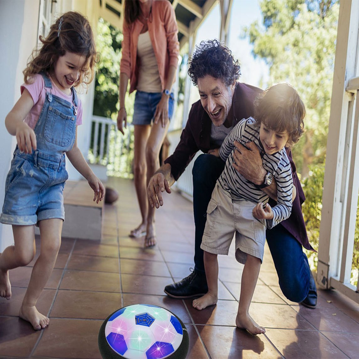 JRD/&BS WINL Bola Interesante De Juguete-LED Bola De Suspensi/ÓN De Aire Deportes De Interior O Al Aire Libre Style1 Red Regalos De Cumplea/ños Para Ni/ños De 4-8 A/ños