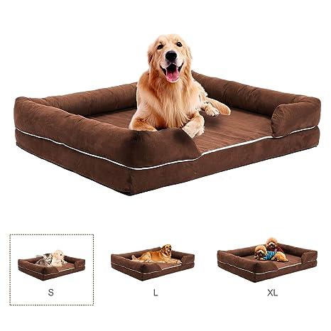 CO-Z Sofá para Perros Cama Cómoda para Mascotas Colchón de Espuma de Memoria para