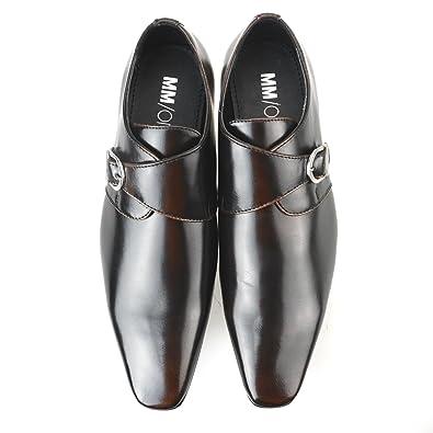 Oxford Men's Dress Shoes Lace-up Double Single Monkstrap Plain Toe Straight Tip Black Dark Brown