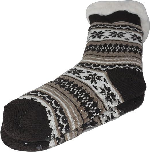 Matyfashion H/üttensocken warme Hausschuhe Socken Str/ümpfe ABS//Teddyfell BF 00256