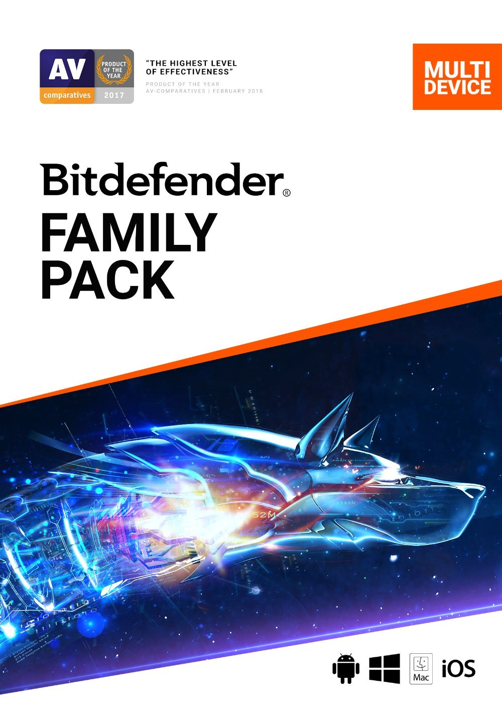 Bitdefender Family Pack - 15 Devices | 2 year Subscription | PC/Mac | Activation Code by email by Bitdefender