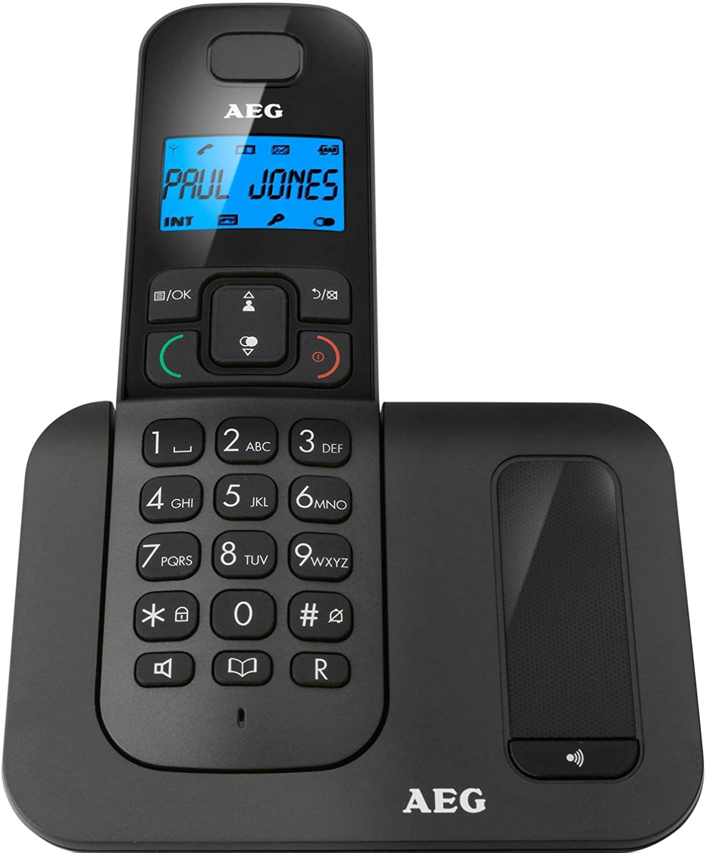 AEG Voxtel D500 - Téléfono inalámbrico DECT, negro: Amazon.es: Electrónica