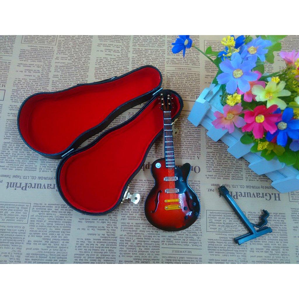 Homyl Escala 1:6 Modelo de Instrumentos de Música de Madera en Miniaturas con Caja de Almacenaje para 12 Pulgadas Figuras de Acción - Guitarra: Amazon.es: ...
