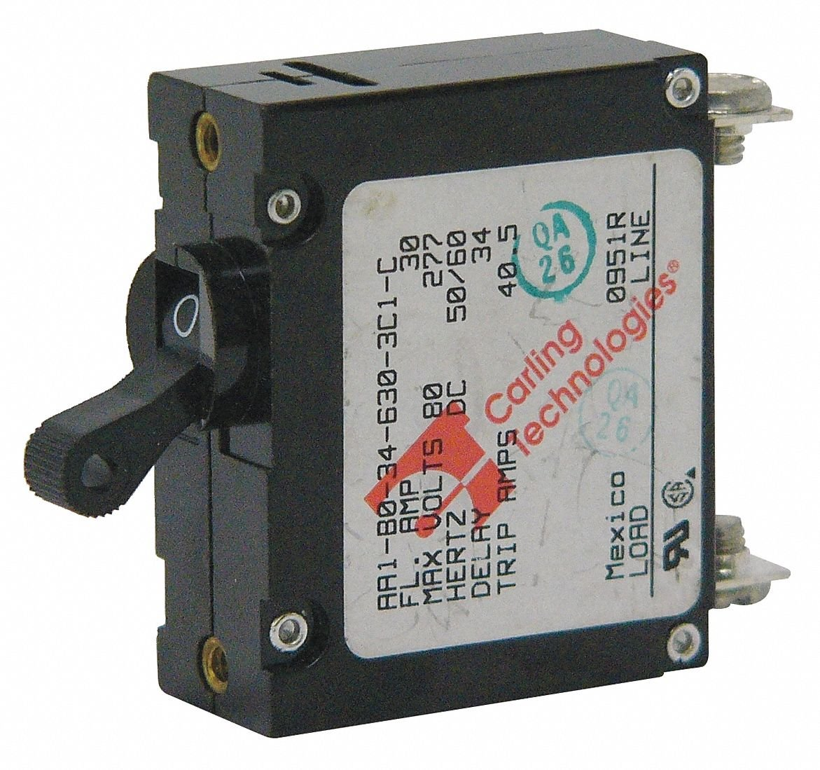 ... Carling Technologies 40 AMP White Toggle switch Circuit Breaker AA1 Series