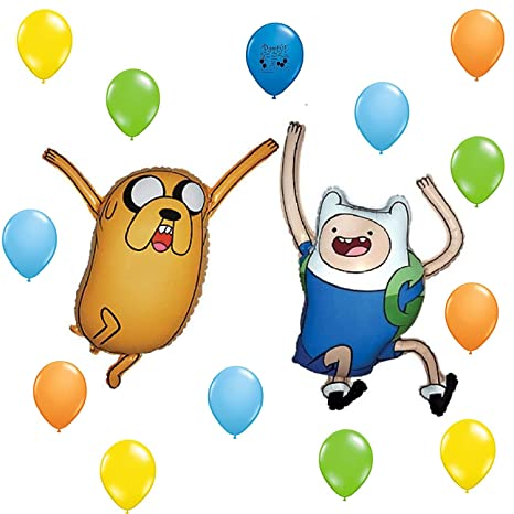 Amazon Adventure Time Party Supplies Balloon Decoration Finn And Jake Set Toys Games