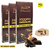 Zevic Chocolate with Organic Jaggery, 40 gm - Triple Pack