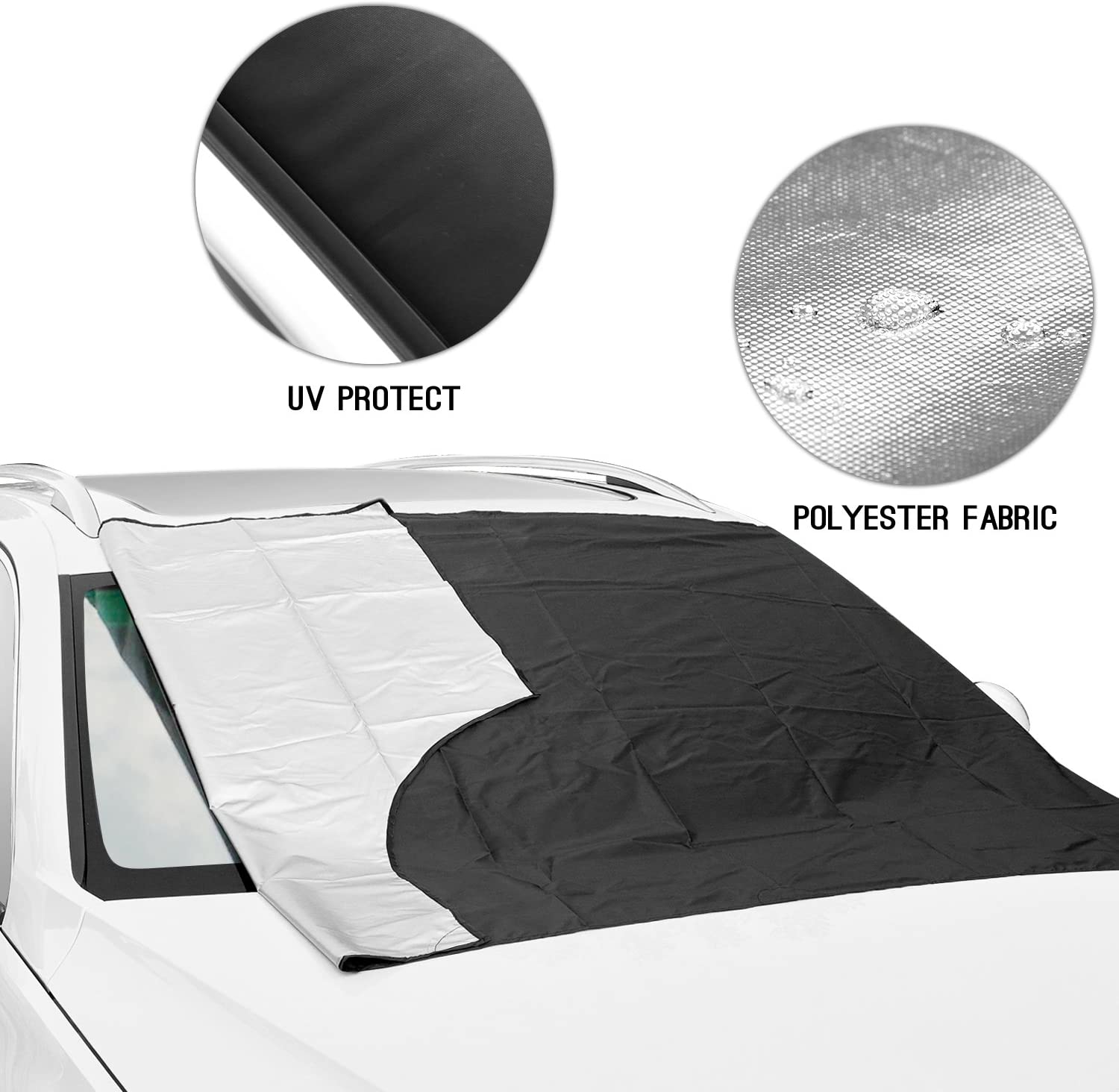 BITSEREASONS MAYPOLE NEW MODEL MP9890 SNOW//ICE NYLON ANTI-FROST DELUXE WINDSCREEN COVER//PROTECTOR /& STORAGE BAG SAVE TIME AND EFFORT IN THE MORNING
