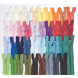 Lot de 39 fermetures Éclair Différents coloris 50 cm