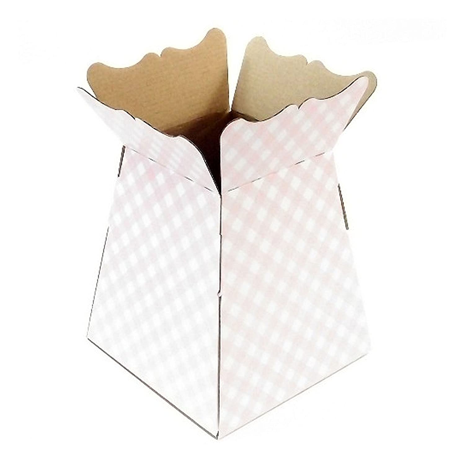 f9029402a735 Living Vases - Gingham - Florist Bouquet Box Flower Sweet Boxes - 7 Col (1  x Living Vase