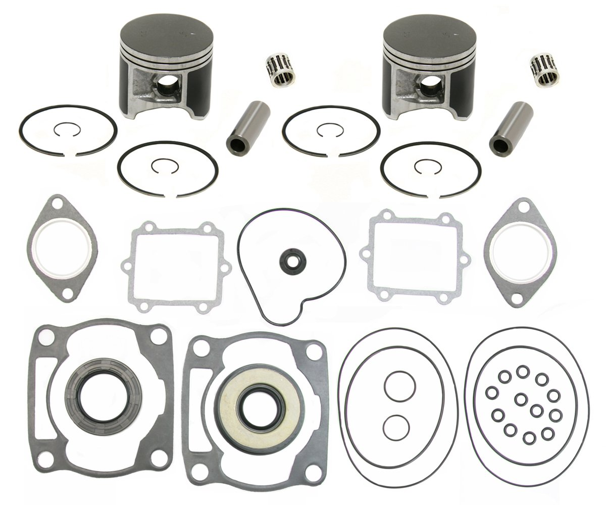 2 SPI Piston Kits, Bearings & Full Gasket Kit 1998-1999 Arctic Cat ZL600 & ZR600
