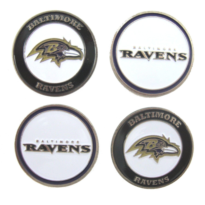 Baltimore Ravensゴルフボールマーカー( Set of 4 )   B01N9FNF4N