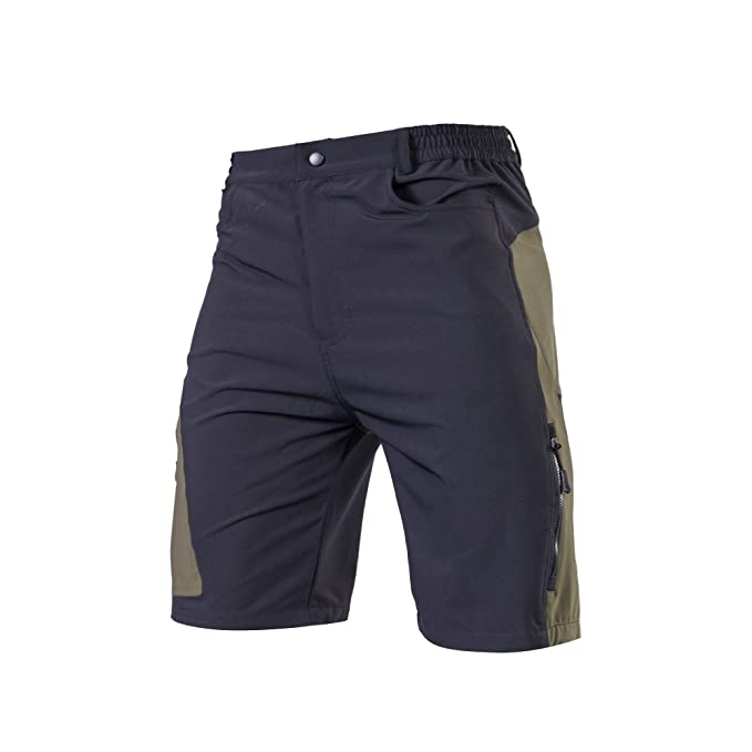 REALTOO Men's Bike Shorts Quick Dry Casual Shorts Waterproof and Multi-Pocket Outdoor Shorts Cycling Shorts - 100% Polyester