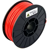 LulzBot ABS 3D Printer Filament, 3 mm Diameter, 1 kg Spool, Red