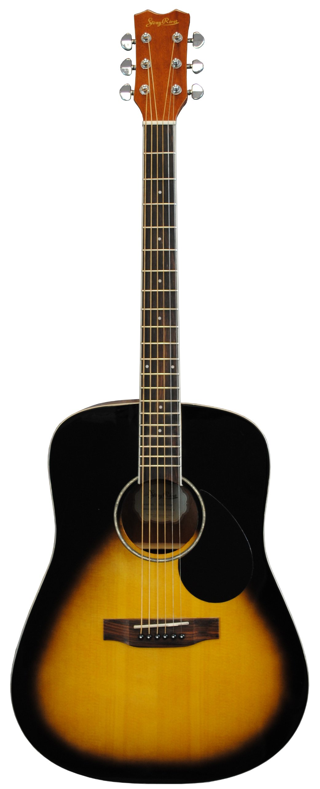 Stony River SRD2 VSB Dreadnought Acoustic Guitar, Vintage Sunburst by Stony River