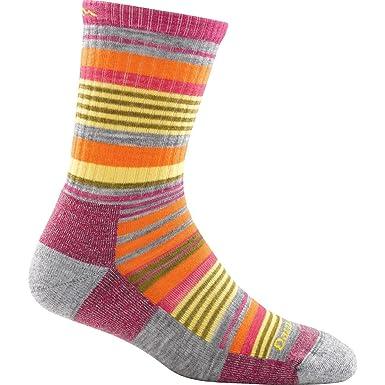 Darn Tough - Calcetines de lana de merino sierra Micro tripulación luz diseño de rayas mujer - Gris - S: Amazon.es: Ropa y accesorios