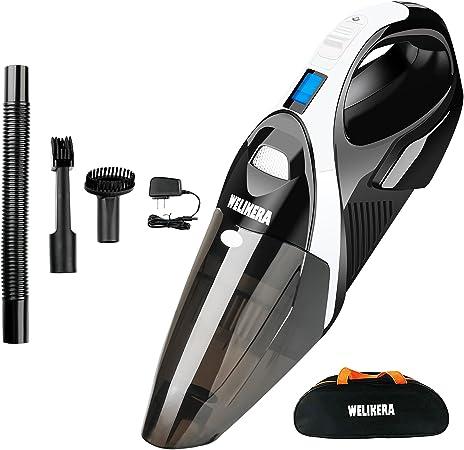 Cordless vacuum, welikera 12 V 100 W aspirador inalámbrico de mano ...