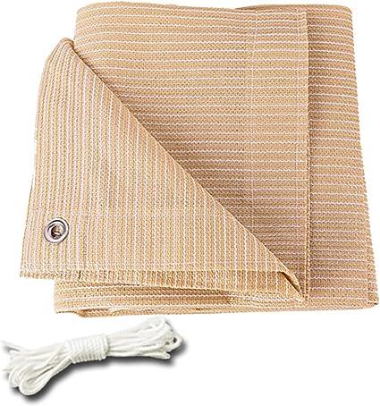 Toldos Sombreado 90% Tela De Sombra Negra Taped Edge Con Ojales Tela De Sombra Sombrilla Cubierta Para Pérgola Respirable Resistente A Rayos UV Lona De Polietileno (Color : Beige-3.3x3.3ft/1x1m): Amazon.es: Coche y