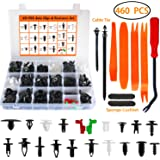 Auto Body Retainer Clips Plastic Fasteners Push Rivets Clips Set Tailgate Handle Rod Clip 19 MOST Popular Sizes Door…