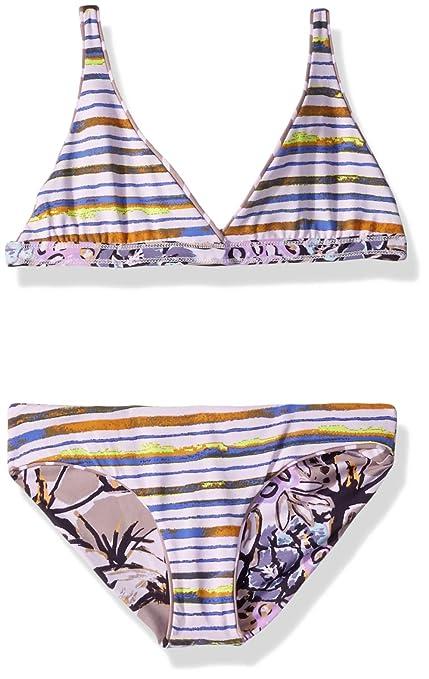 80c0cf1d7a2 Amazon.com: Maaji Little Girls' Long Line Fixed Triangle with Tie Back  Bikini Swimsuit Set, Car Naval Do Rio Purple Palm, 2: Clothing