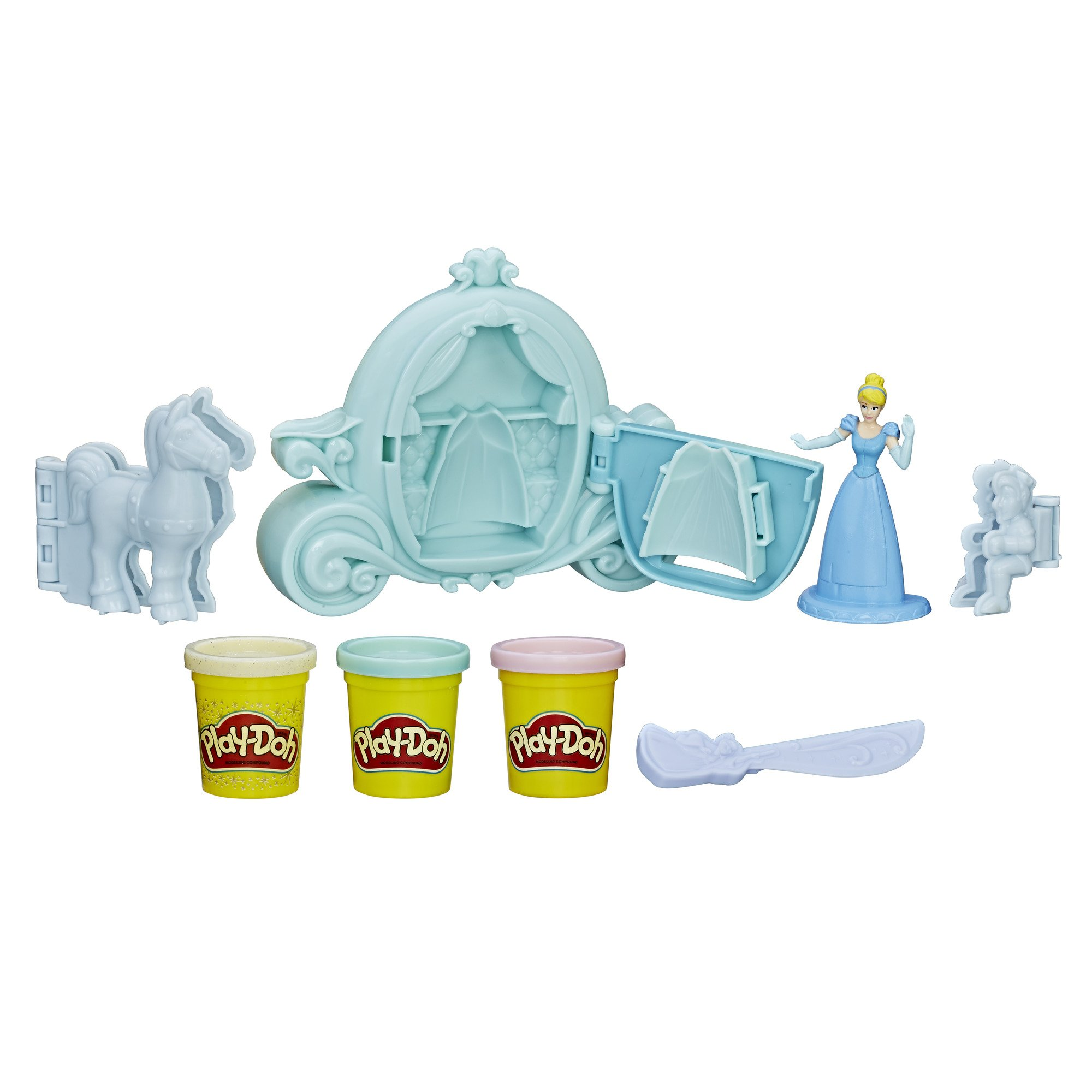 Play-Doh Royal Carriage Featuring Disney Princess Cinderella, Ages 3 and up