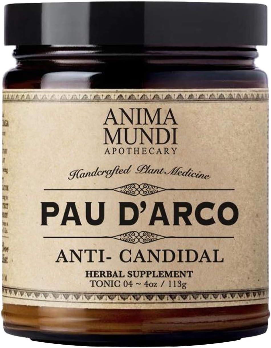 Anima Mundi PAU D' Arco Superbark Powder - Pure Rainforest Superfood Herbal Powder from Peru - Add to Tea, Soup or Broth (4oz / 113g)