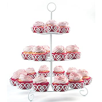 Melidoo 24er Cupcake Muffin Dessert Stander 3 Stockig Metall