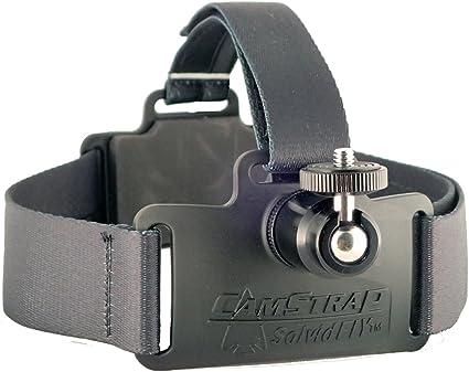 Cabezal de cámara banda ajustable negro para GoPro HD Hero 3 Black Edition