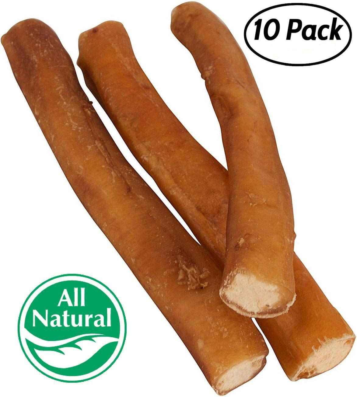Pawstruck 7'' Straight Bully Sticks Dogs [X-LARGE THICKNESS] (10 Pack) All Natural & Odorless Bully Bones | Long Lasting Dog Chew Dental Treats | Best Thick Bullie Sticks Dogs Puppies | Grass-Fed Beef