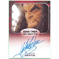 J.G. Hertzler Star Trek Aliens Authentic Autograph #NNO - Deep Space Nine, Klingon General Martok