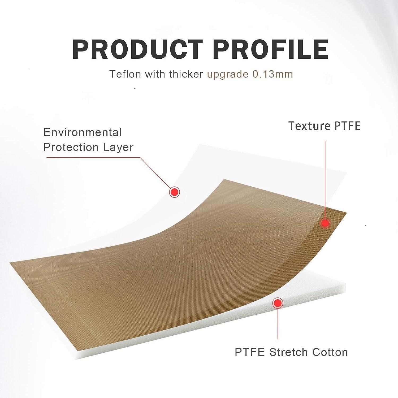 AQUEENLY Teflon Pillow for Heat Press 3 Sizes Heat Press Pillow Mat 15 x 12 Inch 10 x 10 Inch 5 x 5 Inch Reusable Heat Resistant for Heat Press Digital Transfer