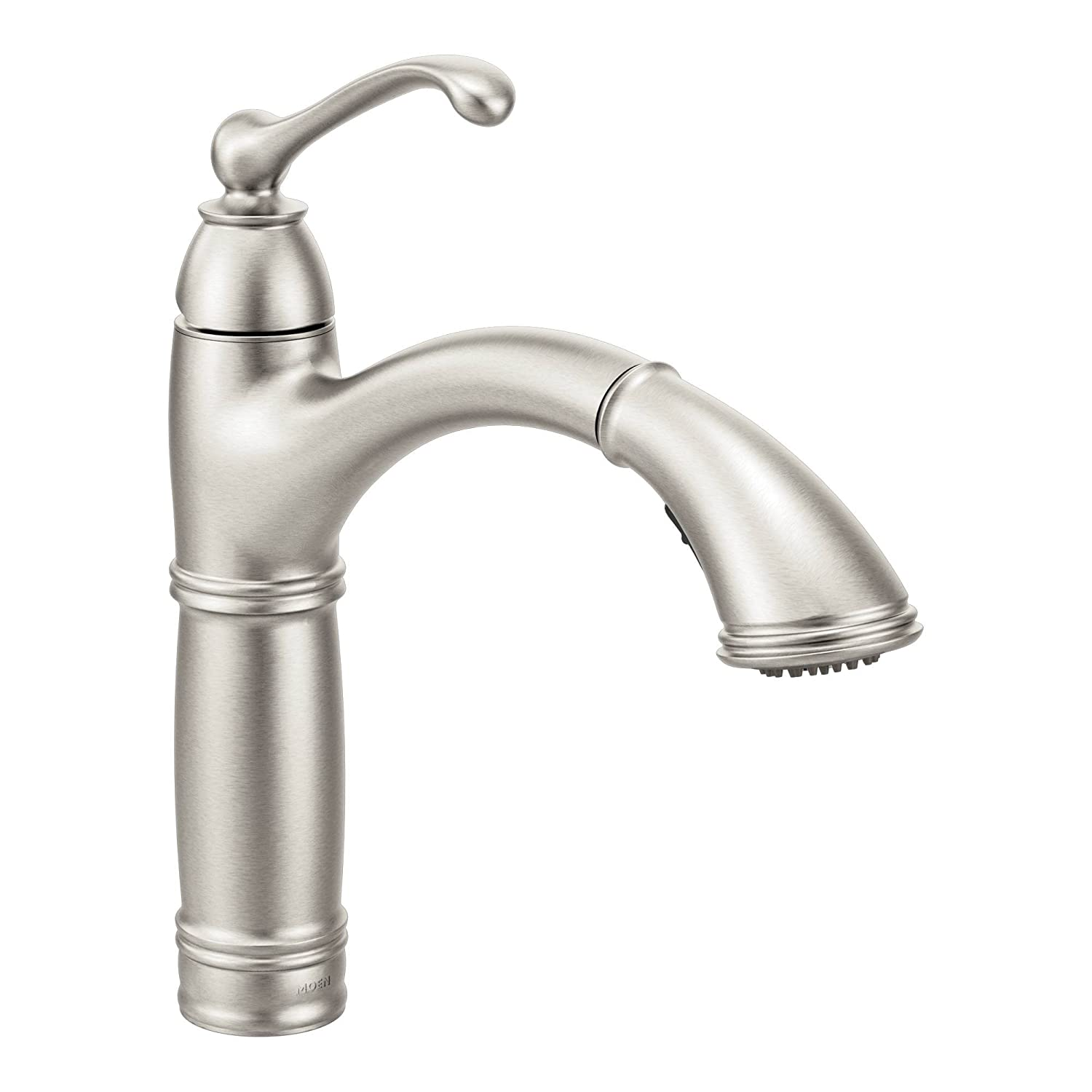 Moen 7295SRS Brantford One-Handle High Arc Pullout Kitchen Faucet, Spot Resist Stainless by Moen B01BP5S0RS