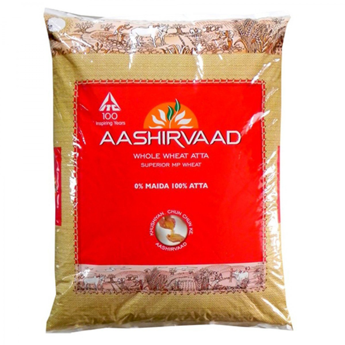 Aashirvaad Flour - Whole Wheat Atta, 5kg Pack: Amazon.in: Grocery ...