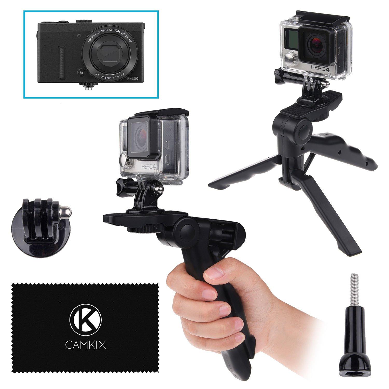 CamKix 2in1 Impugnatura a Pistola e Treppiede da Tavolino - Compatible con GoPro Hero 7/6 / 5/4 / 3+ / 3/2 / 1 e alter Fotocamere Digitali con Connessione per Treppiede D0088-PGT-BLA