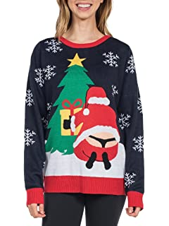 tipsy elves womens winter whale tail sweater funny santa ugly christmas sweater - Christmas Sweaters Walmart