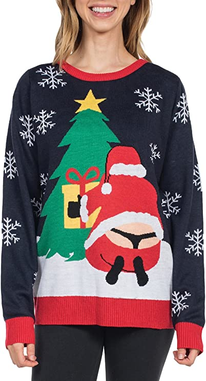 Tipsy Elves Women's Winter Sweater - Funny Santa Ugly Christmas Sweaters for Women Pullover