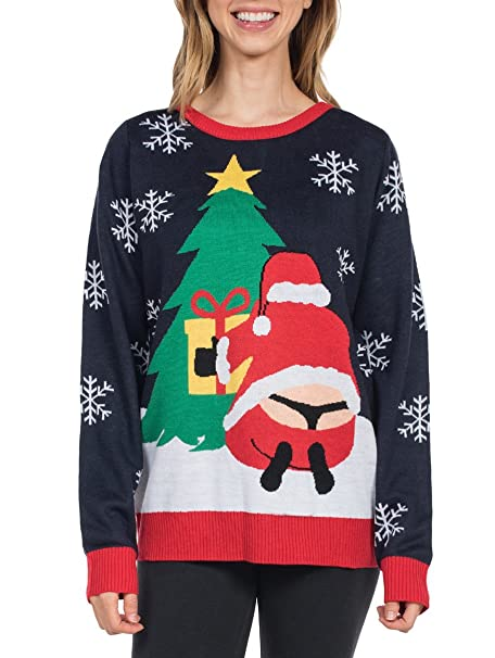 Ugly Christmas Sweater Funny.Tipsy Elves Women S Winter Whale Tail Sweater Funny Santa Ugly Christmas Sweater