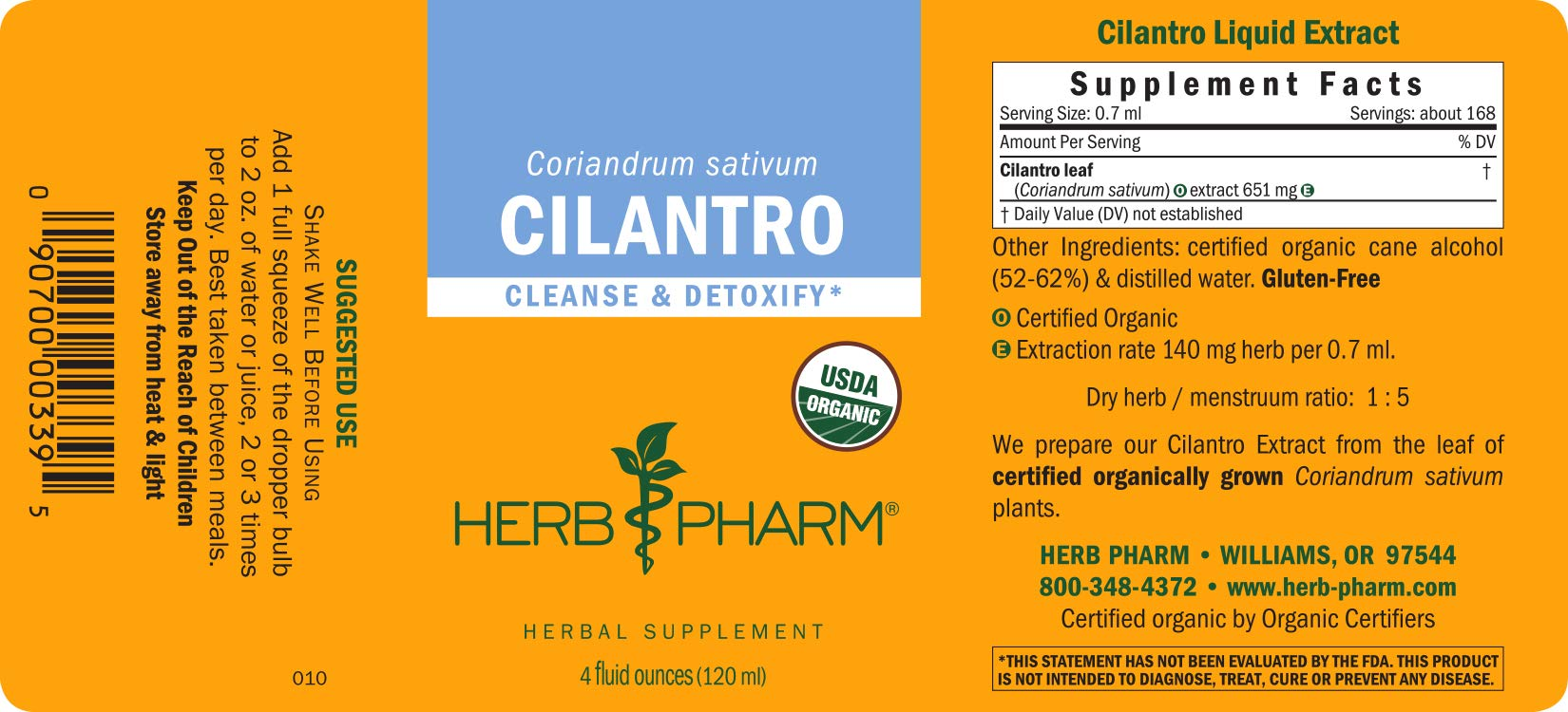 Herb Pharm Certified Organic Cilantro Liquid Extract for Cleansing and Detoxification Support - 4 Ounce by Herb Pharm (Image #6)